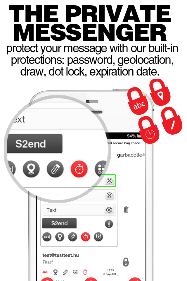 S2end - The private messenger - Send Secure & protected messages, texts!